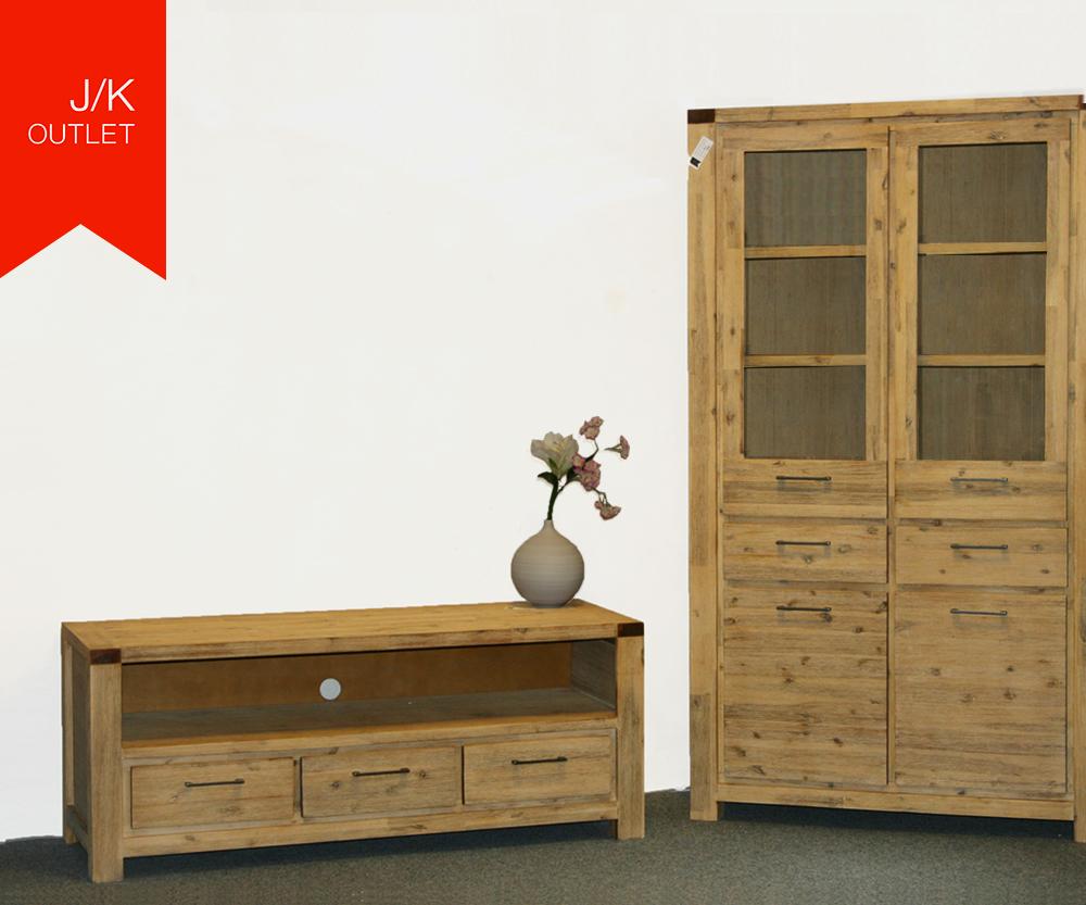 tv lowboard vitrinenschrank alenja wolf m bel ebay. Black Bedroom Furniture Sets. Home Design Ideas
