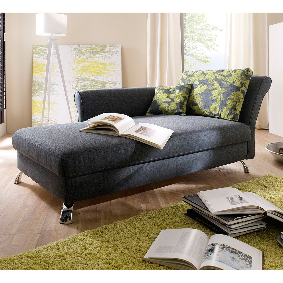 schlafsofa sofa recamiere habay mit schlaffunktion grau ebay. Black Bedroom Furniture Sets. Home Design Ideas
